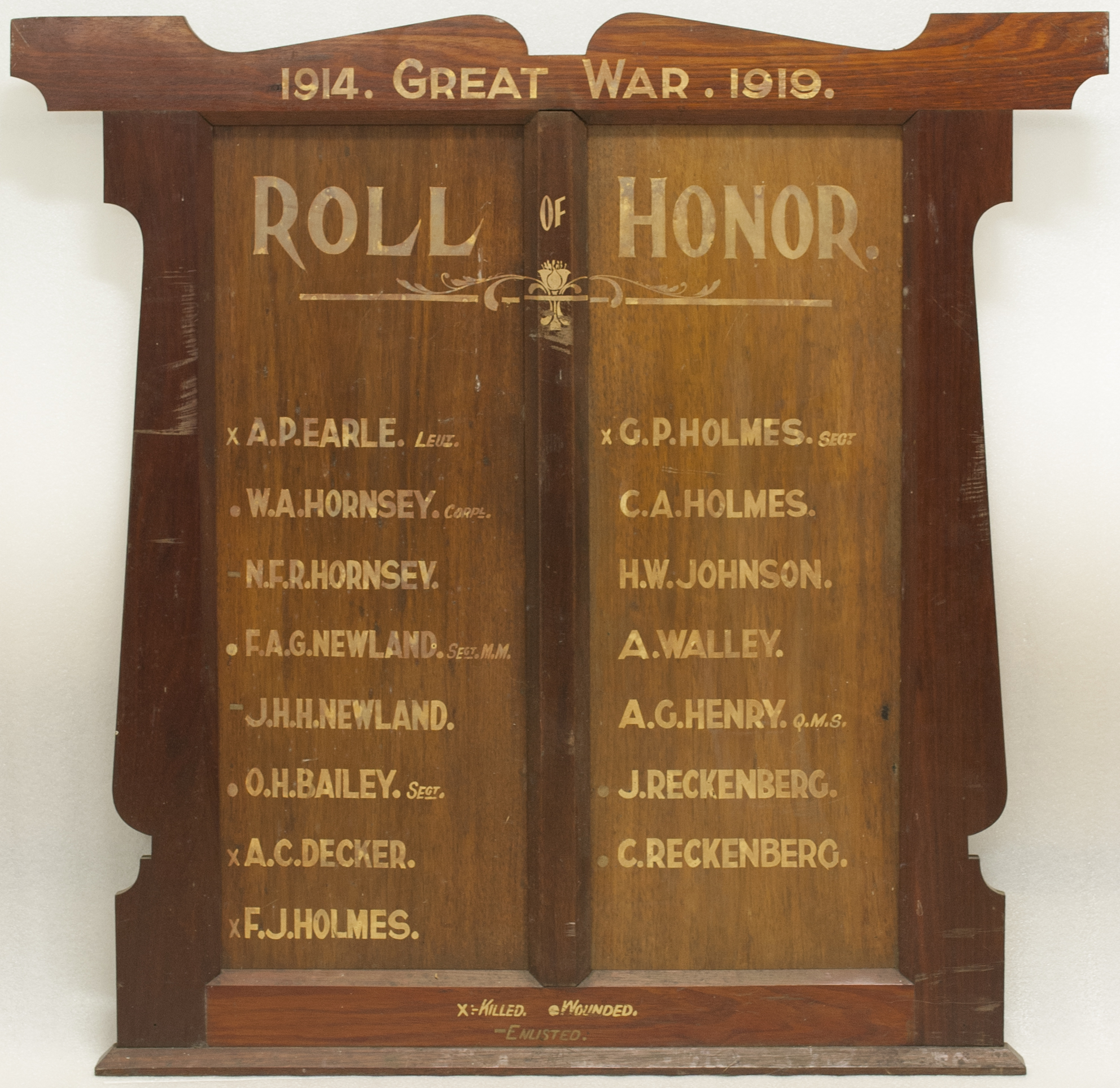 St. Cuthbert's Church and Sunday School Roll of Honor
