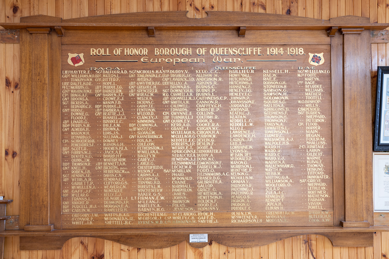 Borough of Queenscliffe Roll of Honor