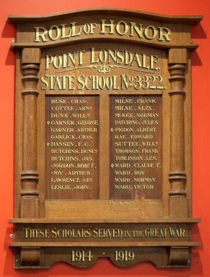Point Lonsdale State School Roll of Honor