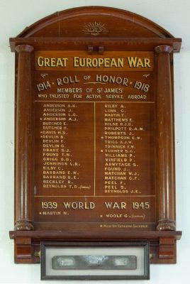 St. James' Anglican Church Drysdale Roll of Honor