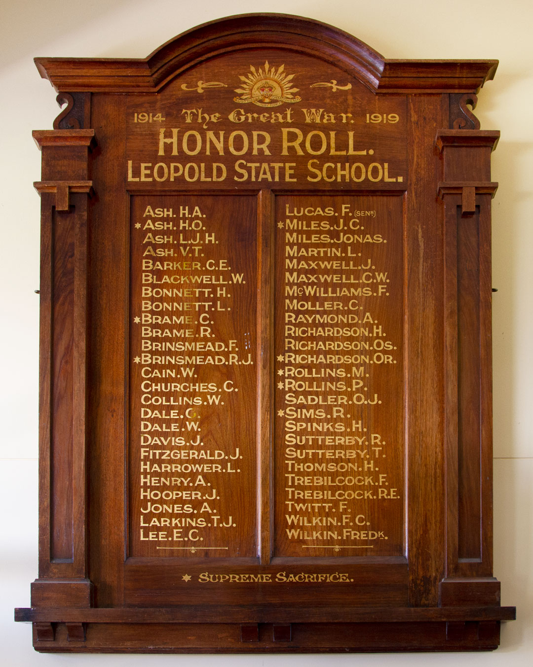 Leopold State School Honor Roll
