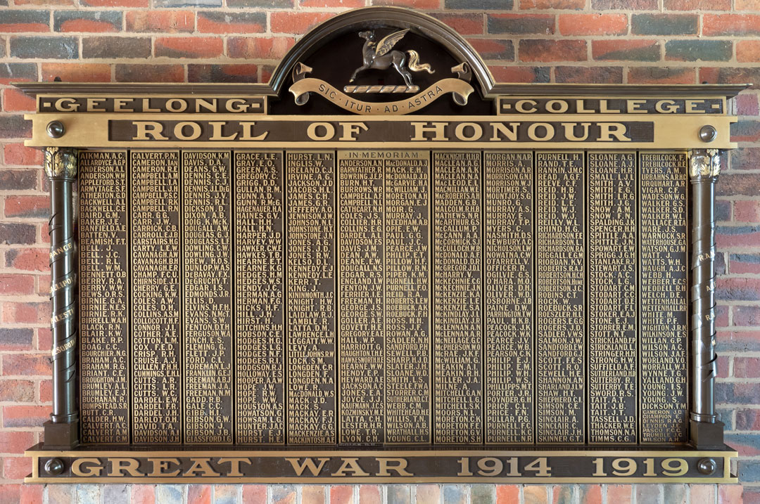 Geelong College Roll of Honour