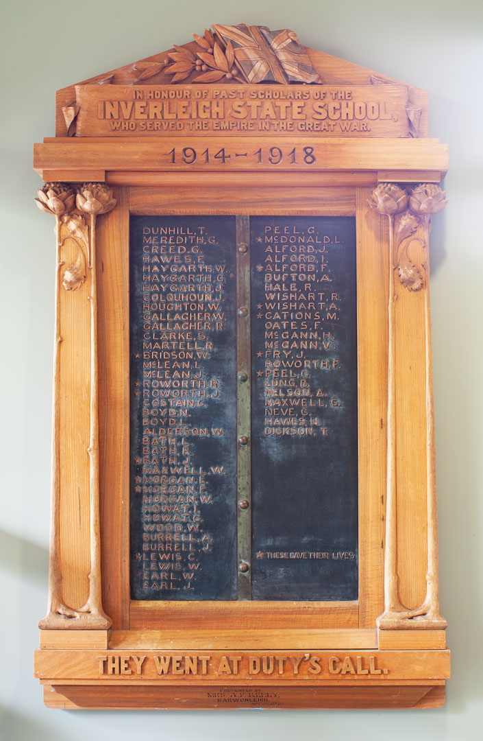Inverleigh State School Past Scholars Who Served