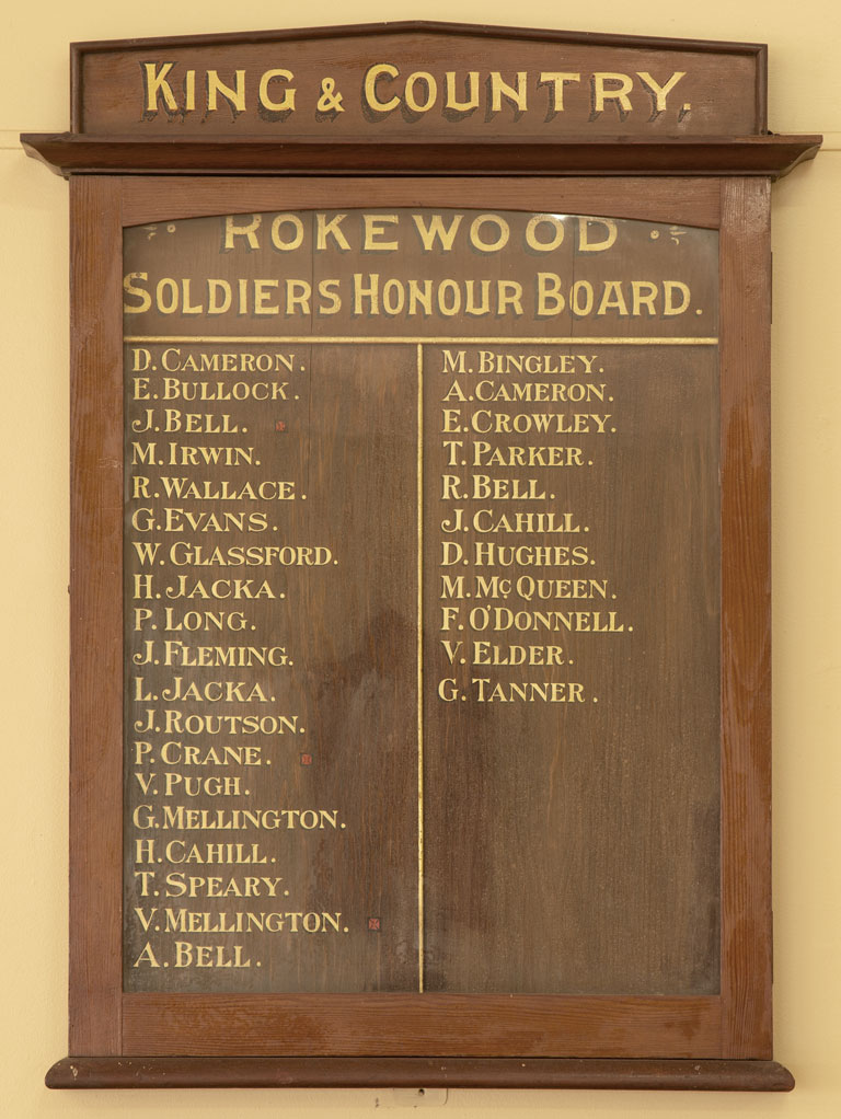 Rokewood Soldiers Honour Board