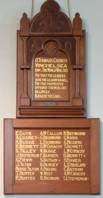 St Thomas's Church Winchelsea Members Who Served