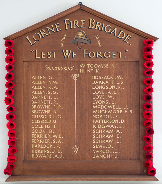 Lorne Fire Brigade Members Who Served
