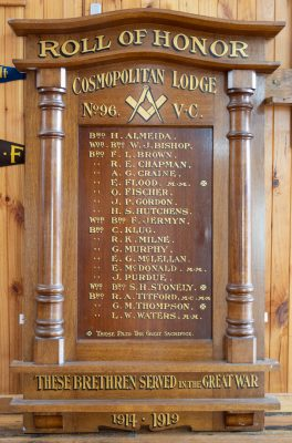 Cosmopolitan Lodge No 96 VC Queenscliff Roll of Honor