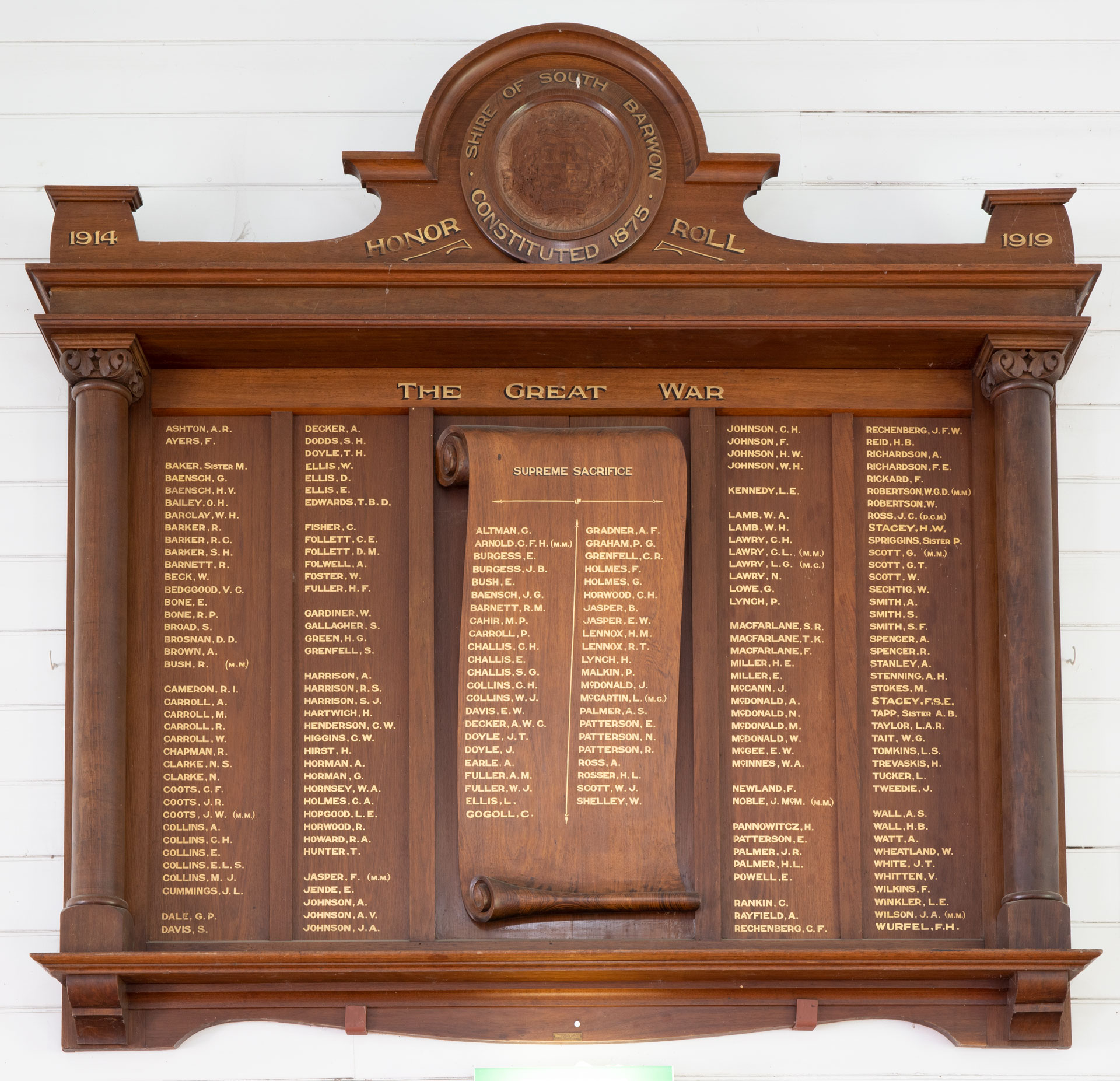Shire of South Barwon Honor Roll