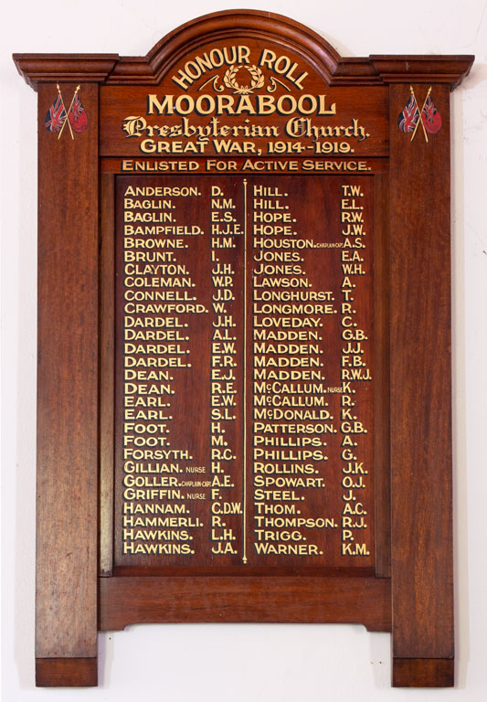 Moorabool Presbyterian Church Honour Roll