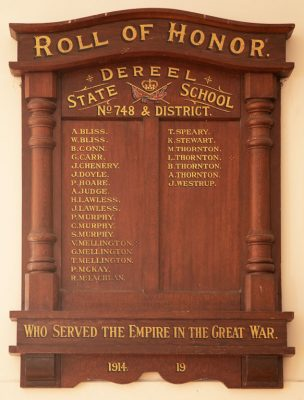 Dereel State School & District Roll of Honor