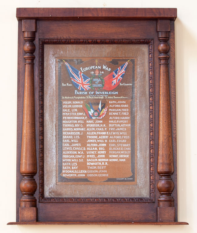Inverleigh Parish Roll of Honor