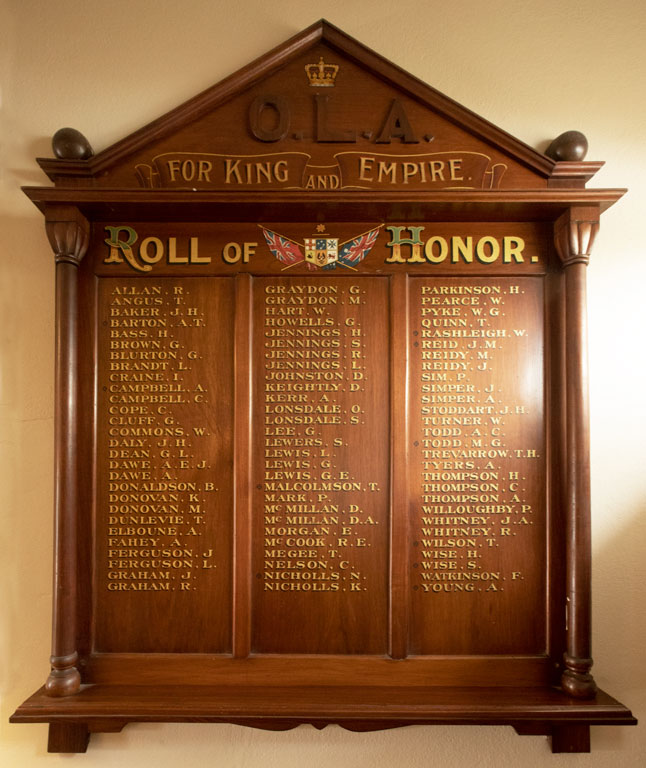 Old Lintonians Association Roll of Honor