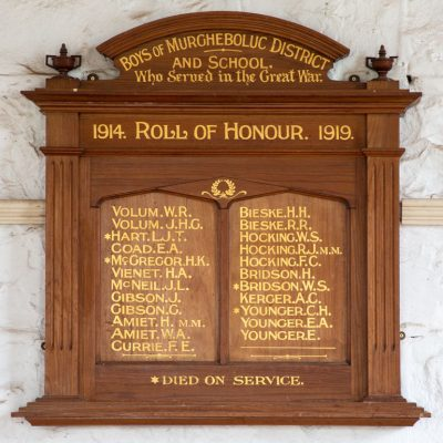 Murgheboluc District and School Roll of Honour