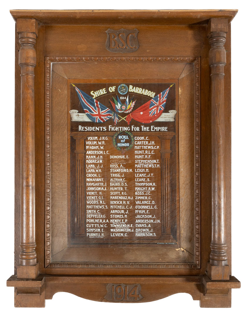 Shire of Barrabool Residents Roll of Honor