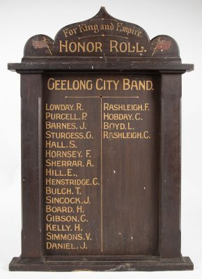 Geelong City Band Honor Roll