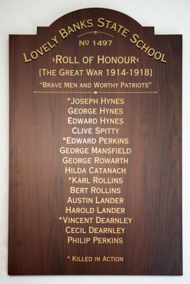Lovely Banks State School Roll of Honour
