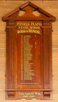 Pitfield Plains State School Roll of Honor