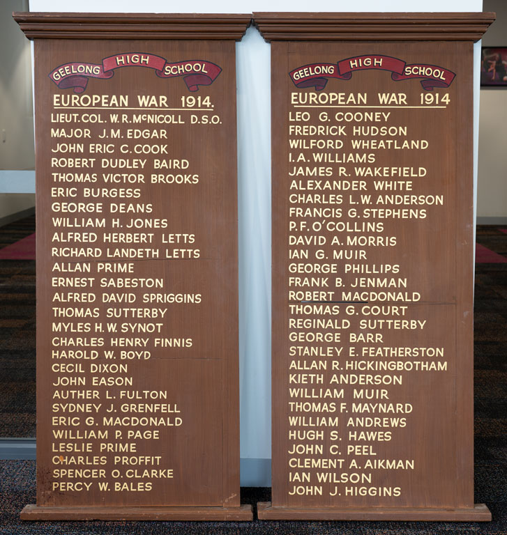 Geelong High School Community Members Who Served