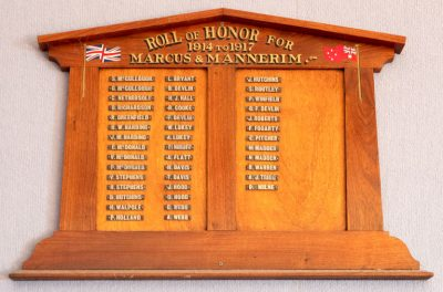 Marcus & Mannerim Roll of Honor