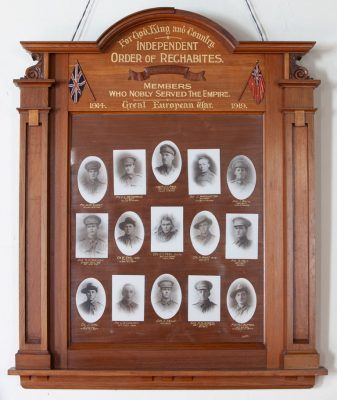 Independent Order of Rechabites Inverleigh Members Who Served