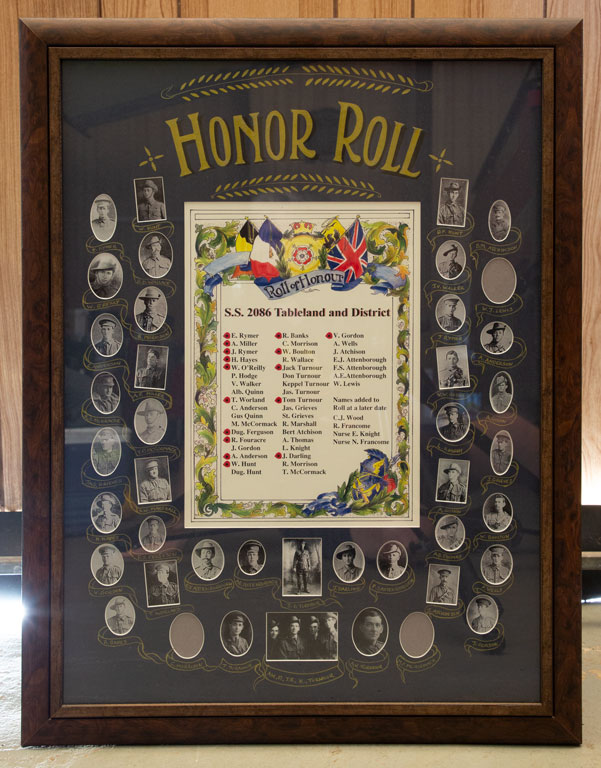 Tableland and District State School Roll of Honour