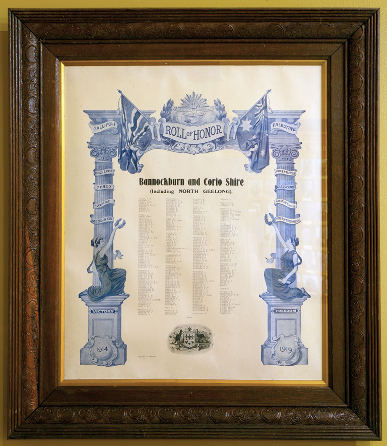 Bannockburn and Corio Shire Roll of Honor