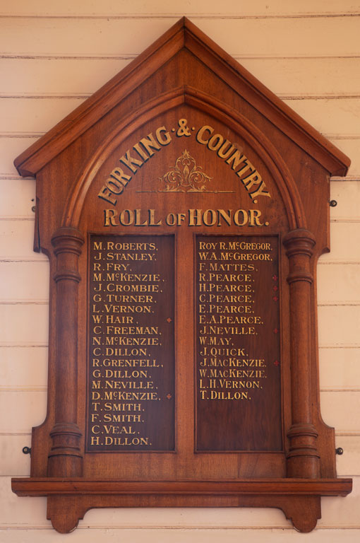 Garibaldi Residents Roll of Honor