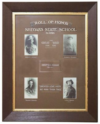 Sheoaks State School Roll of Honor